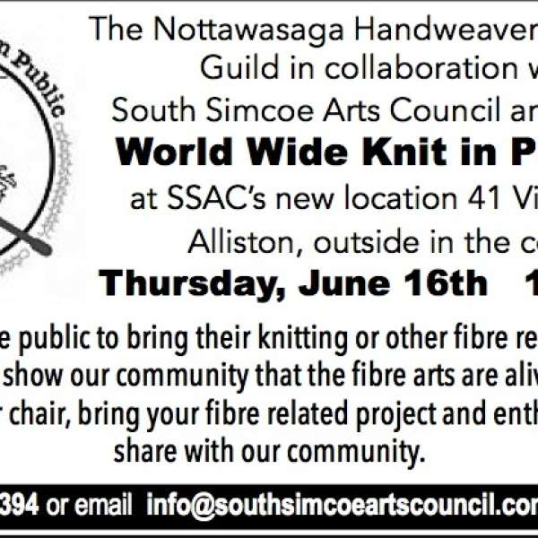 Reminder:  You are invited to World Wide Knit in Public Day