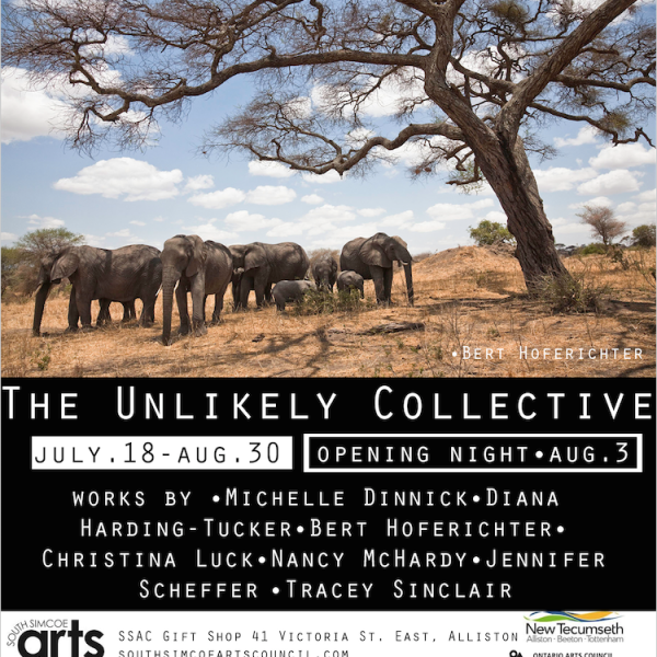 UNLIKELY COLLECTIVE Opening Night WEDNESDAY, AUGUST 3rd 5-8pm