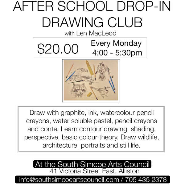 After School Drop-In Drawing Club