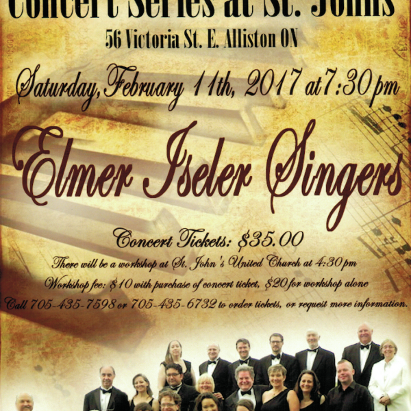 CONCERT SERIES AT ST. JOHNS ~ ELMER ISELER SINGERS