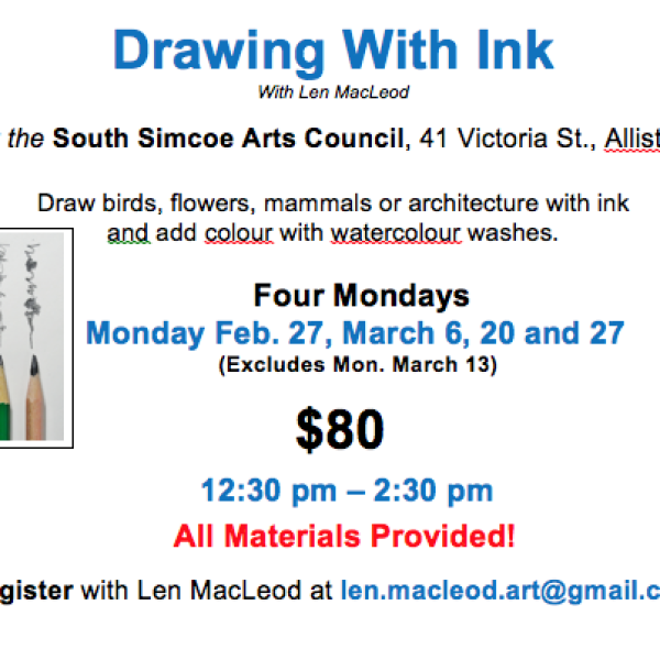 DRAWING WITH INK with Len MacLeod