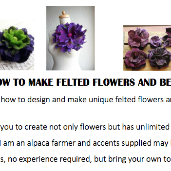 HOW TO MAKE FELTED FLOWERS AND BEADS