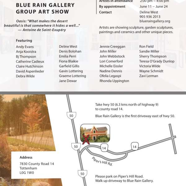 BLUE RAIN GALLERY GROUP ART SHOW ~ Opening Saturday, June 10th