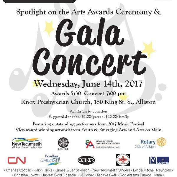 Tomorrow night is Spotlight on the Arts ~ Awards & Gala Concert!