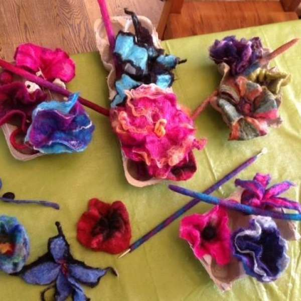 Felted Flowers and Beads Workshop with Gail Franklin-Hawes